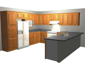 Kitchen on Shaped Kitchen Galley Style Kitchen Island Applications